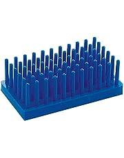 MOUNTAIN MEN Columna Estantería de Probetas los titulares de Laboratorio Material de Laboratorio de Almacenamiento de centrífuga Gradilla Pilares Experimental Consumibles (Capacity : Blue)