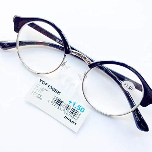 YGF130 老眼鏡 福祉 介護 ルーペ Reading Glasses シニアグラス ダルトン BONOX 男女兼用 敬老の日 プレゼント 母の日 (BLACK, 2.0)