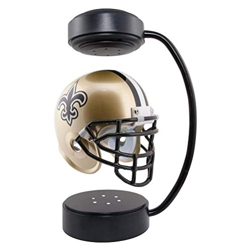 Prevessel Hover Helmet, Magnetic Floating Display Helmet With Electromagnetic Stand and LED Lighting, Football Helmet Scratch Resistance and Corrosion Resistance, Creative Gift Decoration Collectible