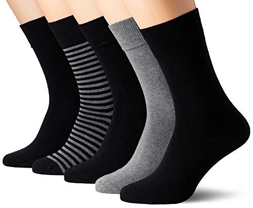 Schiesser Herren Multipack Herrensocken (5PACK) Socken, Mehrfarbig (Sortiert 1 901), 39/42 (5er Pack)