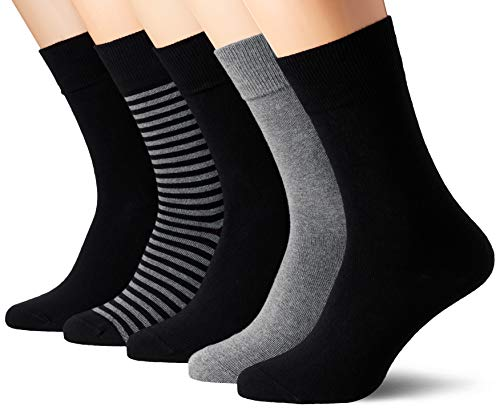 Schiesser Herren Multipack Herrensocken (5PACK) Socken, Mehrfarbig (sortiert 1 901), 43/46 (Herstellergröße: 406) (5er Pack)