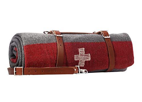 1844 Helko Werk Germany Swiss Army Mountaineer Blanket - 100% Fine Grade Australian Wool #F1150