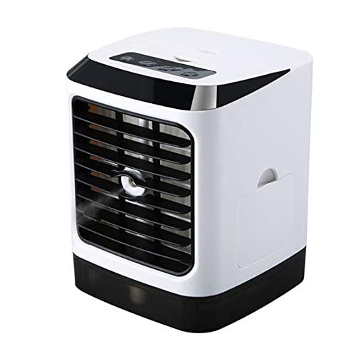 XHMJ Mini condizionatore d'Aria, Materiale ABS, Regolazione della velocità del Vento a Tre Livelli, Alimentatore USB a Basso Rumore, Adatto per dormitorio/Ufficio, ECC. White