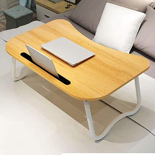 JD Bug Draagbare draagbare opklapbare tafel voor laptop, bijzettafel Laptop bureau ondersteuning Luie tafel Sofa tafel Bespaar ruimte met sleuf voor tablet met slaapzaal Read Hospital-C-60x40x28cm