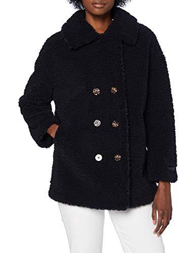 Scotch & Soda Maison Damen Zweireihige Teddy-Jacke Jacket, Night 0002, XS