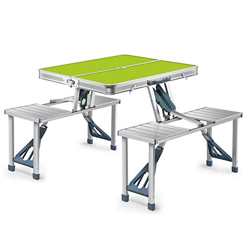 WNN-T Portable Folding Table Picnic 4-Person Table Camping, Portable Indoor Outdoor Table for Picnic, BBQ, Beach, Party, Traveling T