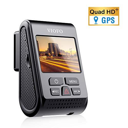 VIOFO A119 V3 Dashcam Autokamera 2560x1600P Quad HD+ IMX355 5MP Sensor Auto Kamera 140-Grad Weitwinkel gepuffert Parkmodus GPS Logger, Bewegungserkennung, G-Sensor, Zeitraffer, WDR