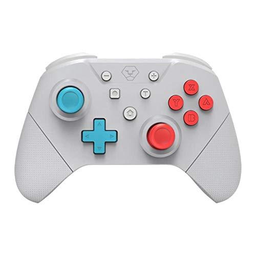 WXJWPZ Controlador Bluetooth Vibration Gamepad Somatosensorial de 6 Ejes con Vibración NFC Joystick Inalámbrico para Consola de Juegos NS,Gray