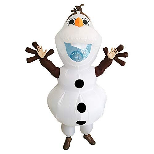 SFJRY® Anself Aufblasbares Kostüm Carry-Me Huckepack Cartoon Olaf Cosplay Für Fasching Erwachsene/Kinder Optional