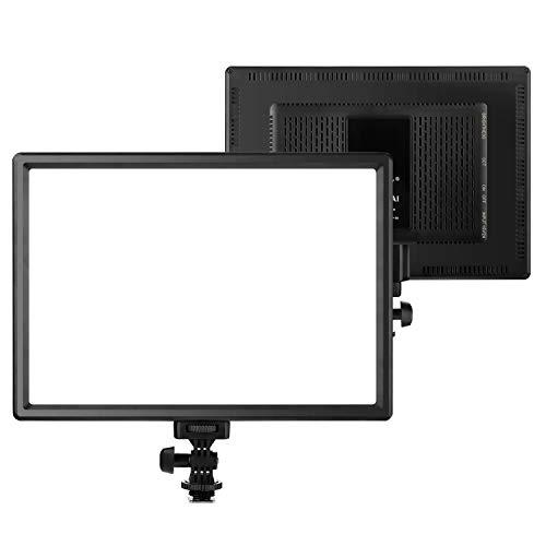OJelay Professionelles Ultra-hell LED Lichtpaneel für Kamera,192 Lampen Dimmbare 3200k-5600k Farbtemperatur CRI95+ Videoleuchte mit LCD Anzeigebildschirm ür digitalen DSLR-Kameras und Camcorde
