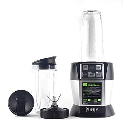 Nutri Ninja BL487T Personal Blender Auto-IQ Pro 1100-Watt (1) 24oz and (1) 32oz Tritan Ninja Cup With Sip & Seal Lids (Renewed)