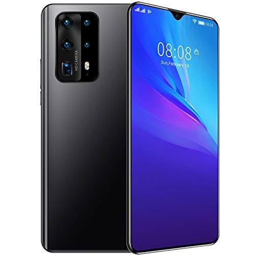 HJFGIRL Smartphone da 128 GB con 7.0  HD + 4 GB di RAM Fotocamere Posteriori Quar Android 10 Batteria da 4200 mAh Doppia SIM 4G NFC Telefono Cellulare Senza SIM,Black-AU