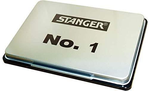 Stanger 380006 Stempelkissen No 1, 12,5 x 8 cm, schwarz
