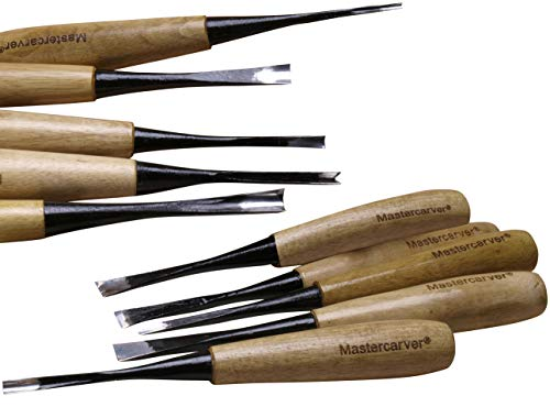 20pc Mastercarver Detail Wood Carving Tools Set w//Canvas Roll 401005