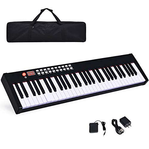 Best Deals! Costzon BX-II 61-Key Portable Touch Sensitive Digital Piano, Electric Keyboard W/MIDI & ...