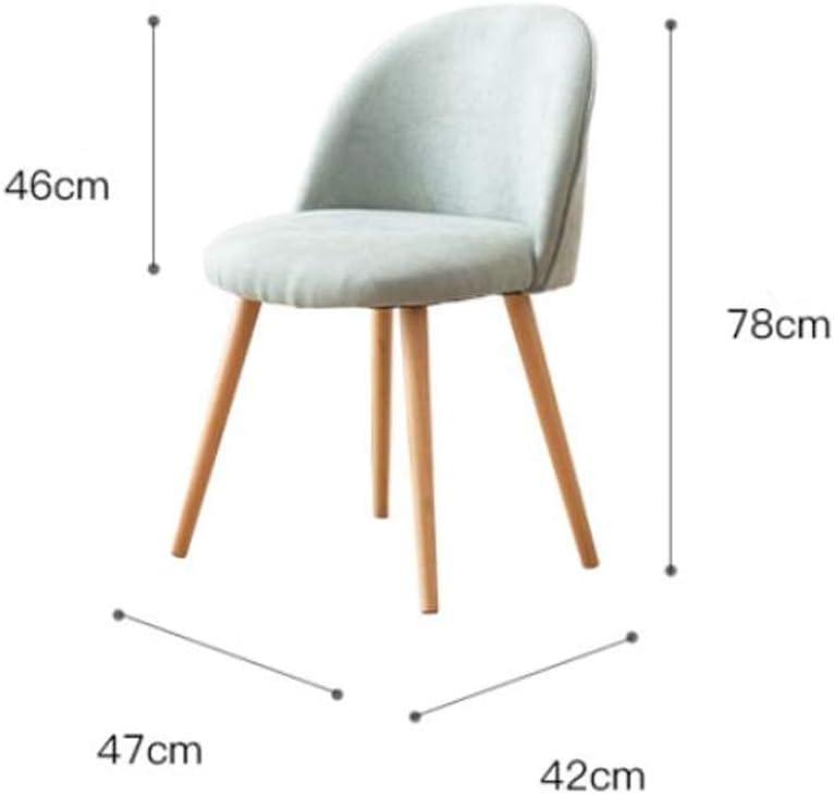 Stable Simple chaise bureau étudiant et chaise de maquillage tabouret retour à la maison à manger chaise d'ordinateur Gratuit (Color : Pink) Gray