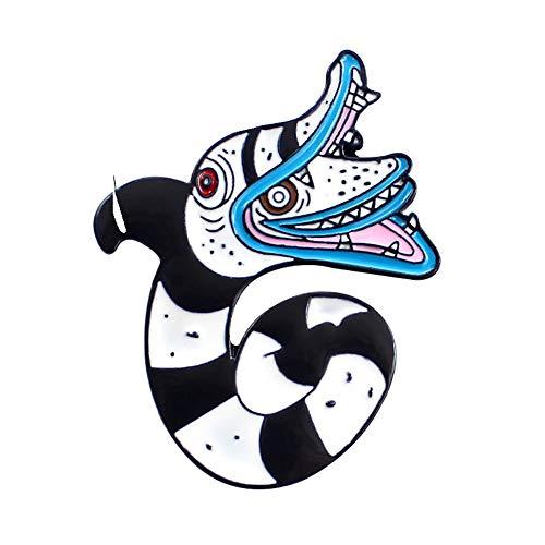Sanwood Broche, mignon Dessin animé Motif Exagérée Serpent émail Broche Vêtements accessoire de décoration