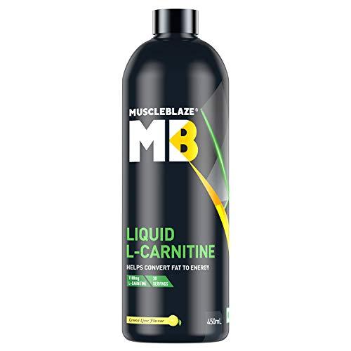 Muscleblaze Liquid L-Carnitine, 450 ML (Lemon Lime)