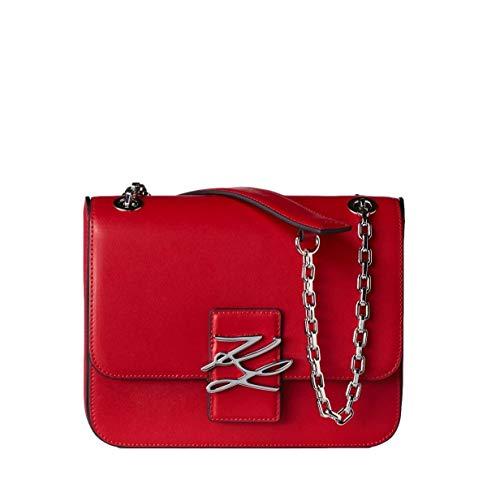 Karl Lagerfeld Sac à bandoulière Karl Autograph modèle 205W3181 couleur rouge (A502 Klassik Red).