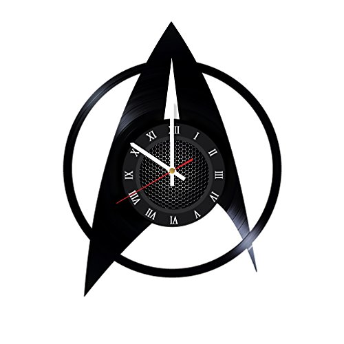 GottaHaveThisNow Star Trek Wall Accessories Star Trek Vinyl Clock Star Trek Vintage Clock Movie Artwork Clock Star Trek Handmade Clock Star Trek Decorative Gift Unique Gift