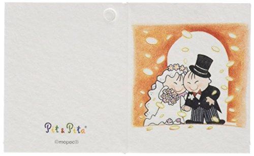 Mopec trouwkaart, Pit&Pita onder een regen, 100 stuks, karton, meerkleurig, 0,02 x 6,5 x 4,00 cm