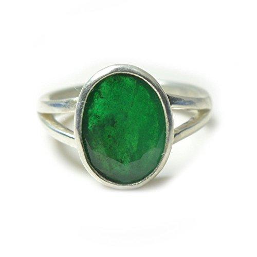 55Carat Unisex -  Nicht zutreffend  Sterling-Silber 925 Ovalschliff   grün Émeraude