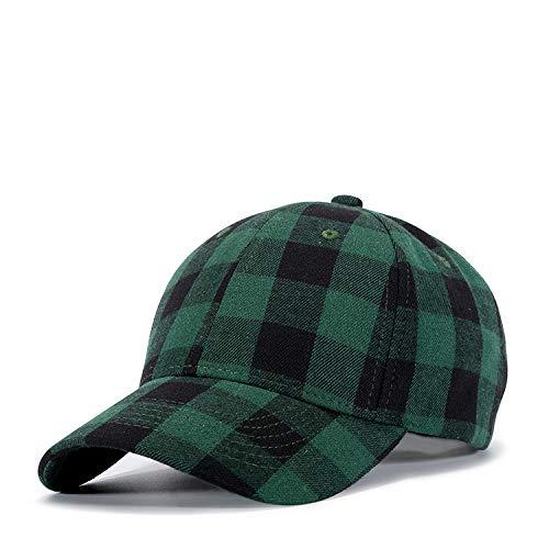 sdssup Algodón Negro Rojo a Cuadros Gorra Sombrero de Hombre Negro Verde número de Rejilla: K643 Ajustable