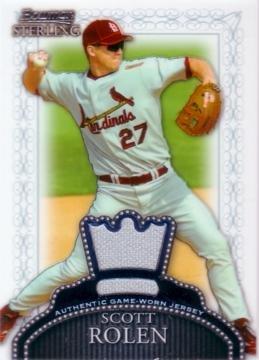 2005 Bowman Sterling Baseball Scott Rolen Game Worn Jersey Card