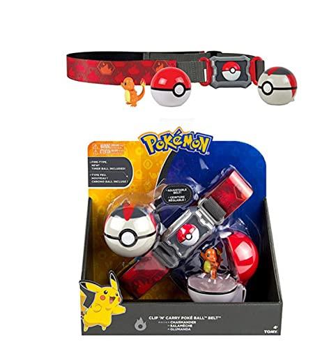 zzyou Dessin Animé Pokemon Chiffres Mini Pokeball Charmander Ceinture Jouet 4 Cm, Figurine Pop en Boîte Modèle À Collectionner Enfants Cadeau d'anniversaire