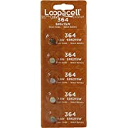 Loopacell 364 (SR621SW) 1.55V Silver Oxide Watch Battery (5 Batteries)