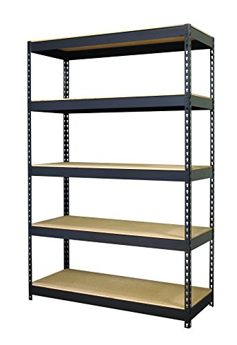 Hirsh Industries HID17313 3800 Shelving Unit, 48 x 18 x 78 Inches, Black