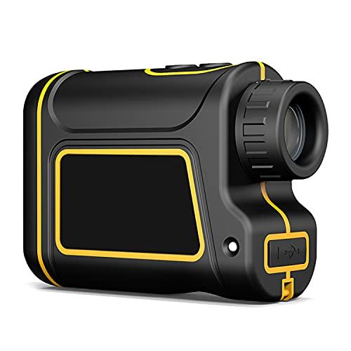 CAMILYIN Telemetro Golf, Telémetro Láser Golf, Precisión, Flag-Lock, Aumento 6X, Pin/Range/Speed/Scanning, para Golf/Caza, Senderismo,Bolsa Protectora,Negro,1500m