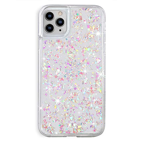 Velvet Caviar Compatible with iPhone 11 Pro MAX Case Glitter - Iridescent Holographic Opal Flakes - Clear Protective Phone Cases for Women & Girls