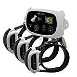 QXbecky Nuovo Sistema di Recinzione Elettronica per Cani da Compagnia Wireless con trasmettitore e Ricevitore Ricaricabili per Consegna Diretta661C-W-3