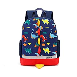 Lovely dinosaur design, bright colour perfect for a dinosaur mad, make your kids more attractive in crowded Two side pockets can hold a short water bottle snugly, or a kid slim sippy cup, it is very useful Plenty room inside to fit a couple of nappie...