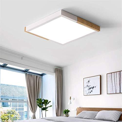GD1 plafond licht Scandinavische stijl slaapkamer lamp wit massief hout plein creatieve led plat plafond lamp eenvoudige stijl warme studielamp