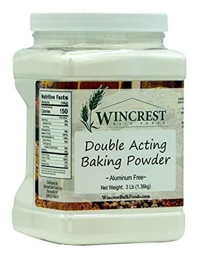 Double Acting Baking Powder - Aluminum Free - 3 Lb Economy Size Tub