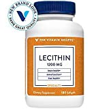 Lecithin 1200mg Natural Combination of Essential Fatty Acids (Linoleic) to Support Brain Nerve Function (180 Softgels) by The Vitamin Shoppe