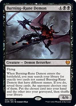 Magic: The Gathering - Burning-Rune Demon - Kaldheim