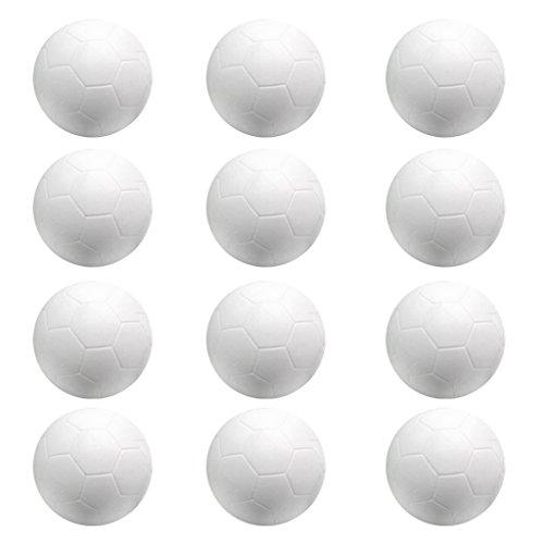 Baoblaze Kickerbälle Kicker Bälle 32mm, 12er / Set, Weiß