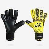J4K Revo Pro (Roll + Negative Palm) Goalkeeper, Soccer Futsal Goalie, Keeper Glove (Size 5)