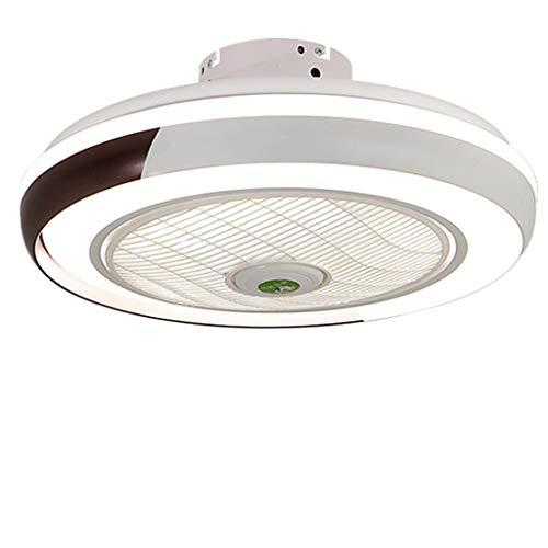 Ventilador de techo lámpara de luz creativa lámpara de techo moderna llevó regulable con iluminación control remoto invisible dormitorio sala estar macarrón habitación los niños tranquilos,Negro