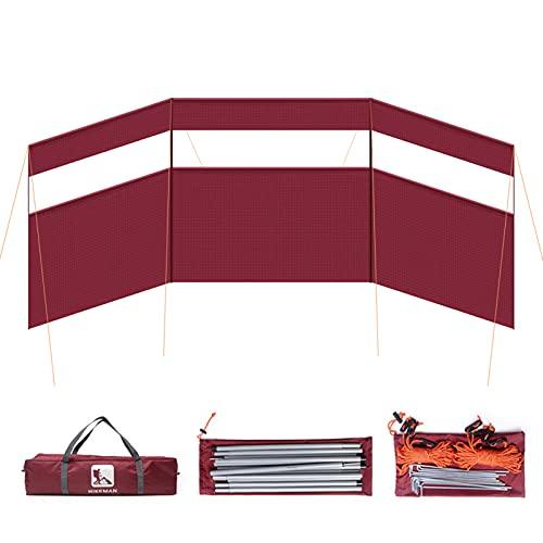 Lixada Parabrisa Plegable para Estufa de Camping Pantalla de Viento para Acampar Playa Picnic Jardín Parrillas de Carbón Barbacoa