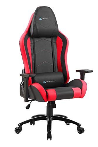 Newskill Takamikura - Silla gaming profesional (inclinación y altura regulable, reposabrazos ajustables, reclinable 180º), Color Roja