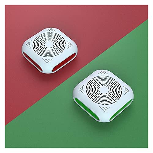 LYB 2PC Purificatore d'Aria Decescenertore Deodorante con Filtro PM2.5 Formaldeide Fumo Odore Odore Batteri Rimozione Anion Accessorio Interno (Color : Red And Green)