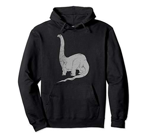 Dinosaurier Brachiosaurus Dino Prähistorisches Vintage-Desig Pullover Hoodie
