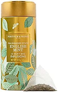 Fortnum & Mason British Tea, English Mint Infusion Tin, 15 Silky Tea bags (1 Pack) NEW Product ID38SD - USA Stock