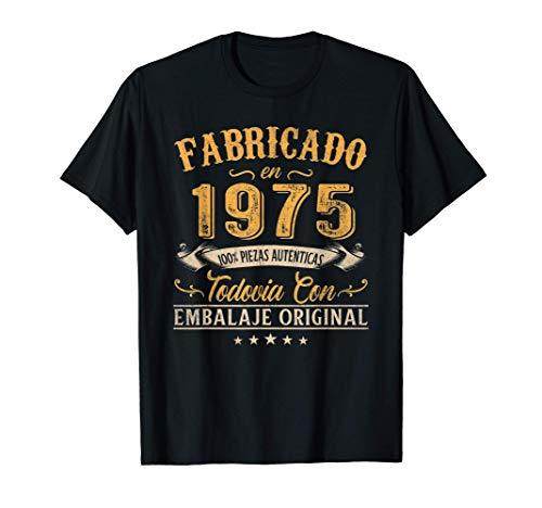 Fabricado En 1975 Regalo Para Hombre 46 Años Cumpleaños Camiseta