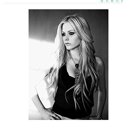 CAPTIVATE HEART Leinwand Bedrucken 60x80cm kein Rahmen Avril Lavigne Poster dekorative Wandmalerei Leinwand Wandkunst Druck auf Leinwand Poster und Drucke
