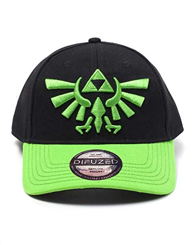 The Legend of Zelda Cap Hyrule Crest Logo Curved Bill Cap Black